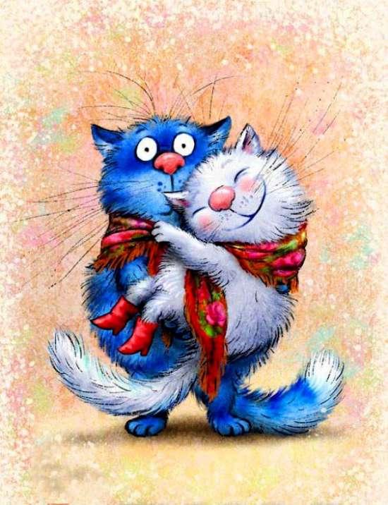 открытка любимому с котами странице